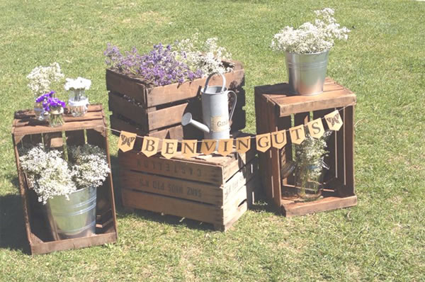 Decoraci n para bodas r sticas 20 ideas geniales blog - Caja fruta decoracion ...
